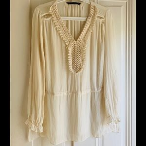 Cream Tunic Blouse